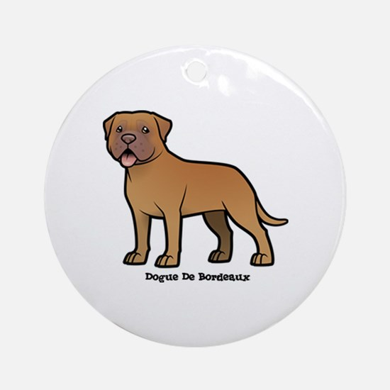 Cute Red dogue de bordeaux holiday Round Ornament