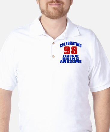 Celebrating 98 Years Of Being Awesome Golf Shirt