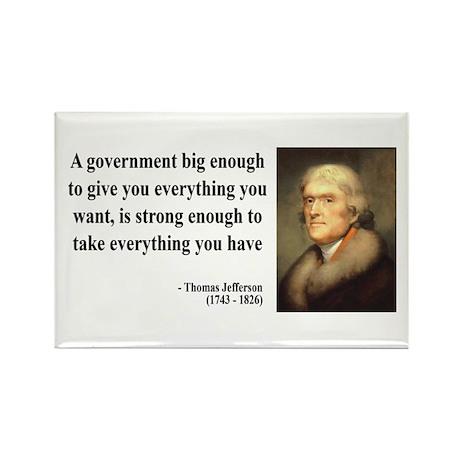 Thomas Jefferson Quote 1 Rectangle Magnet