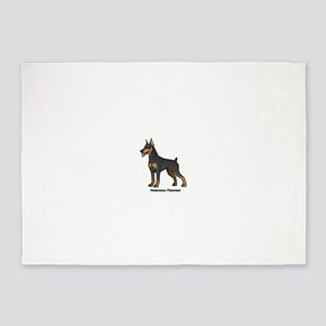 doberman pinscher 5'x7'Area Rug