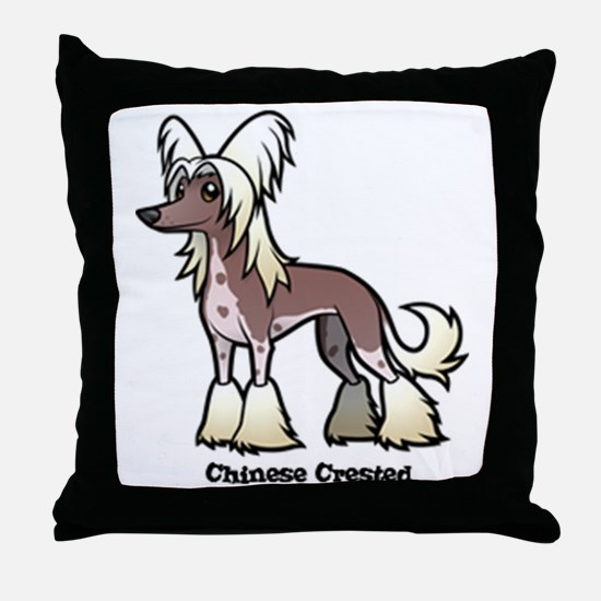 Cute Chinese crested Throw Pillow