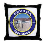 Nevada Freemasons Throw Pillow