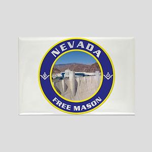 Nevada Freemasons Rectangle Magnet