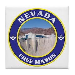 Nevada Freemasons Tile Coaster