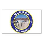 Nevada Freemasons Rectangle Sticker