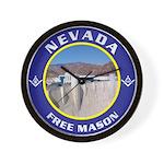 Nevada Freemasons Wall Clock