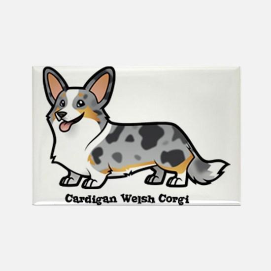 Cute Cardigan welsh corgis Rectangle Magnet