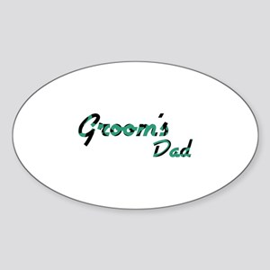 Airstream - Groom's Dad Oval Sticker