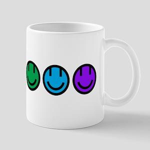 pride rainbow faces row Mug