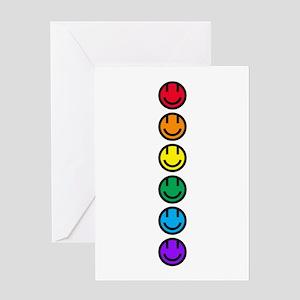 pride rainbow faces row Greeting Card
