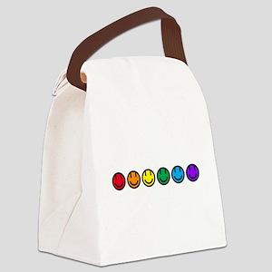 pride rainbow faces row Canvas Lunch Bag