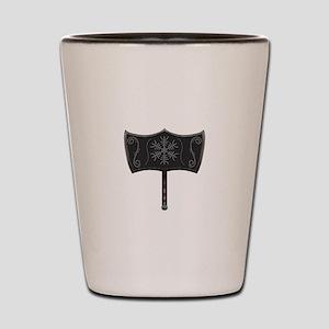 Viking Mjolnir White Shot Glass