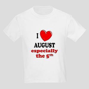 August 5th Kids Light T-Shirt