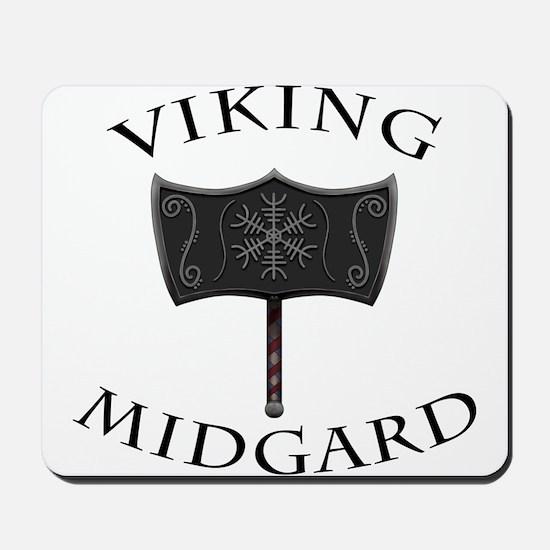 Viking Mjolnir Black Mousepad