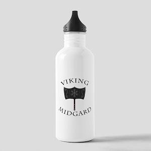 Viking Mjolnir Black Stainless Water Bottle 1.0L