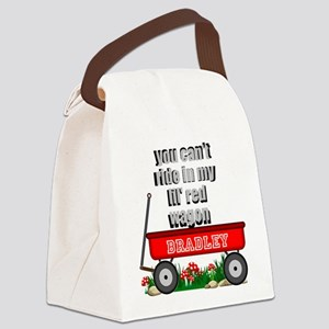 lil red wagon personalize Canvas Lunch Bag