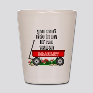 lil red wagon personalize Shot Glass