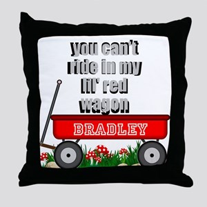 lil red wagon personalize Throw Pillow