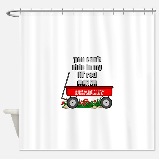 lil red wagon personalize Shower Curtain