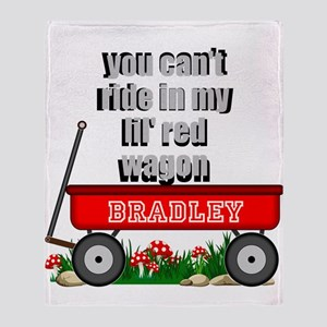 Lil Red Wagon Personalize Throw Blanket