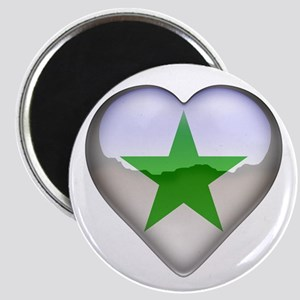 Verda Stelo Heart Magnet