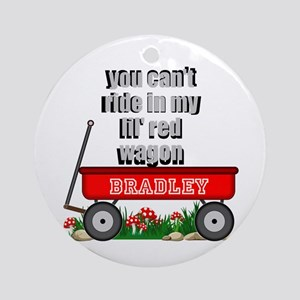 Lil Red Wagon Personalize Round Ornament