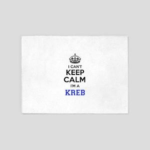 I can't keep calm Im KREB 5'x7'Area Rug