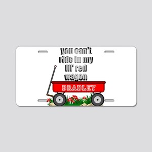 lil red wagon personalize Aluminum License Plate