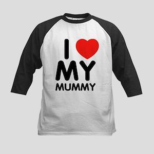 I love my mummy Kids Baseball Jersey