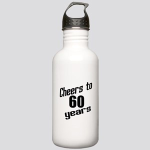 Cheers To 60 Years Stainless Water Bottle 1.0L
