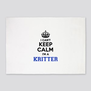 I can't keep calm Im KRITTER 5'x7'Area Rug