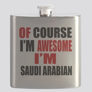 Of Course I Am Saudi Arabian Flask