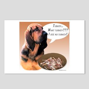 Bloodhound Turkey Postcards (Package of 8)