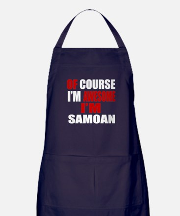 Of Course I Am Samoan Apron (dark)