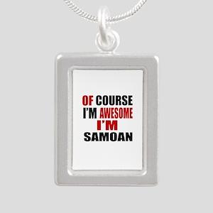Of Course I Am Samoan Silver Portrait Necklace