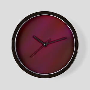 Abstract Haze (Red) Wall Clock