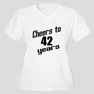 Cheers To 42 Year Women's Plus Size V-Neck T-Shirt