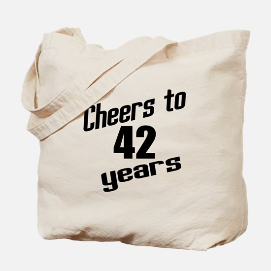 Cheers To 42 Years Tote Bag