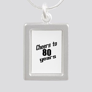 Cheers To 80 Years Silver Portrait Necklace