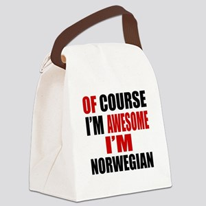 Of Course I Am Norwegian Canvas Lunch Bag