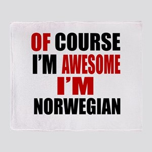 Of Course I Am Norwegian Throw Blanket