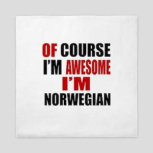 Of Course I Am Norwegian Queen Duvet