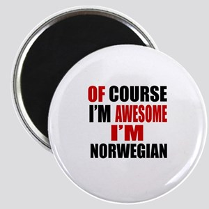 Of Course I Am Norwegian Magnet