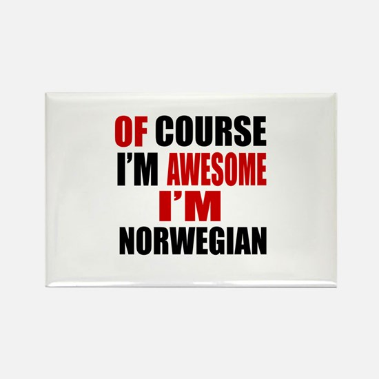 Of Course I Am Norwegian Rectangle Magnet