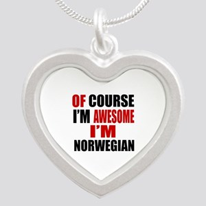 Of Course I Am Norwegian Silver Heart Necklace