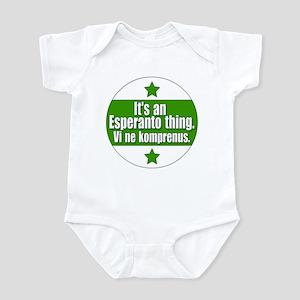 Esperanto Thing Infant Bodysuit