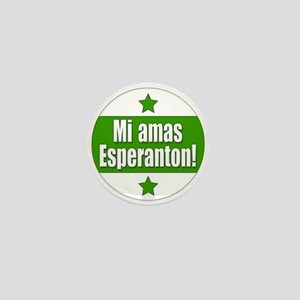 Mi Amas Esperanton Mini Button