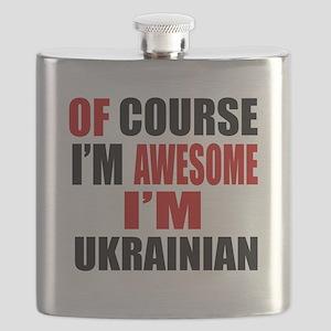Of Course I Am Ukrainian Flask