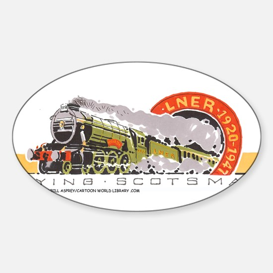 Flying Scotsman Oval Decal