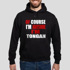 Of Course I Am Tongan Hoodie (dark)